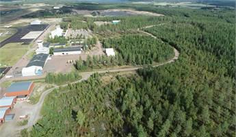 Flygfoto över flygplatsområdet