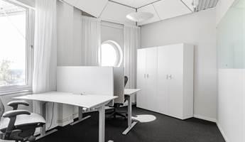 Charmig kontor med fina vinklar