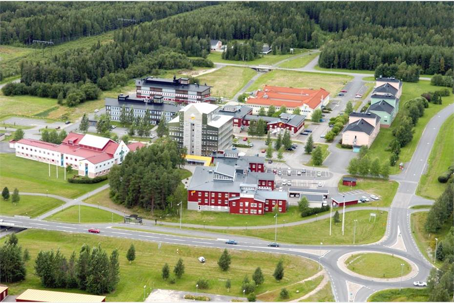 Flygbild över Aurorum Science Park