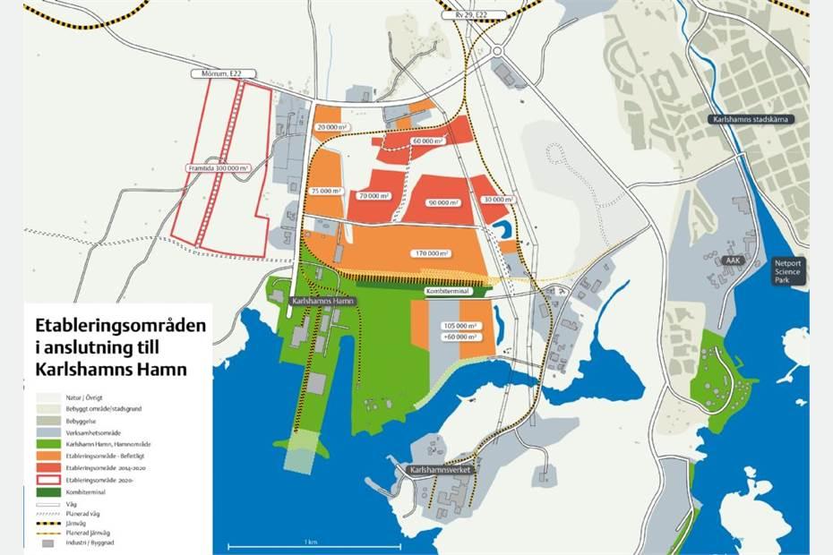 Södra Stillerydsvägen, Karlshamn, Karlshamn - IndustritomtLager/Logistik