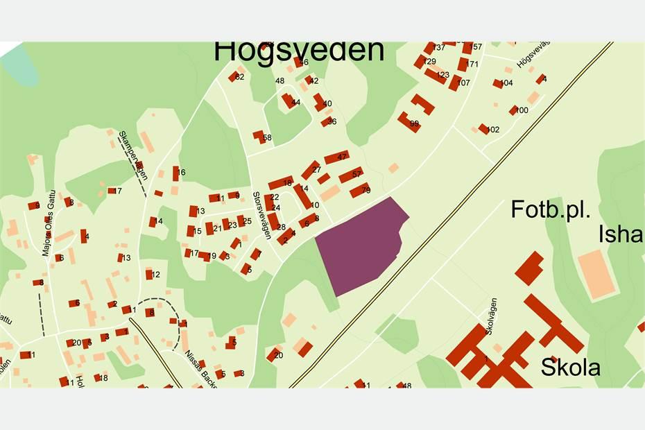 Områdets utformning och placering