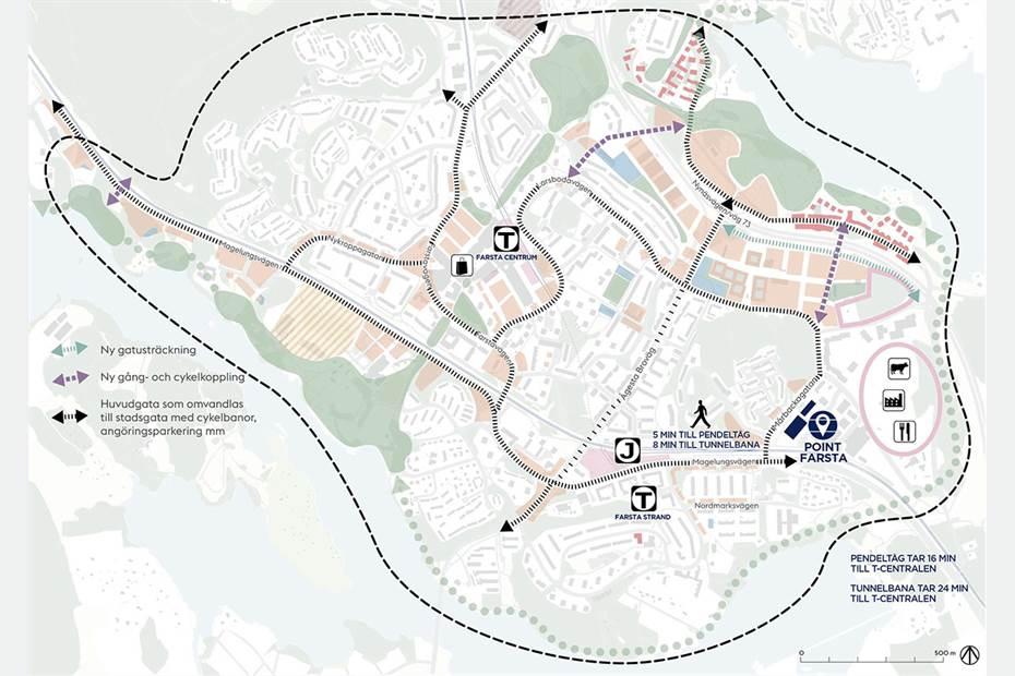 I området planeras för stora förbättringar av kommunikationsplattformen