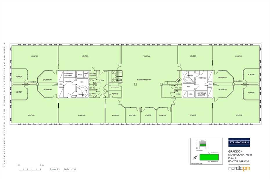 Planritning - 944 kvm
