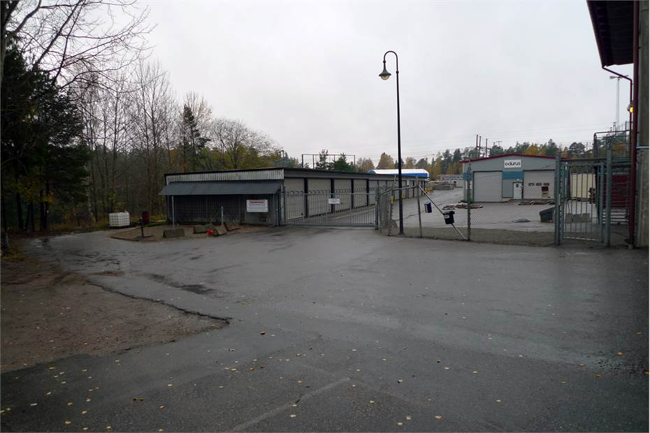Inhägnat område bakom kontor/förråd, Kilowattvägen 12, Haninge / Handen, Haninge / Handen - ButikIndustri/verkstadKont
