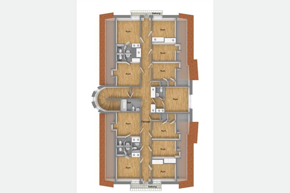 Planritning Våning 3