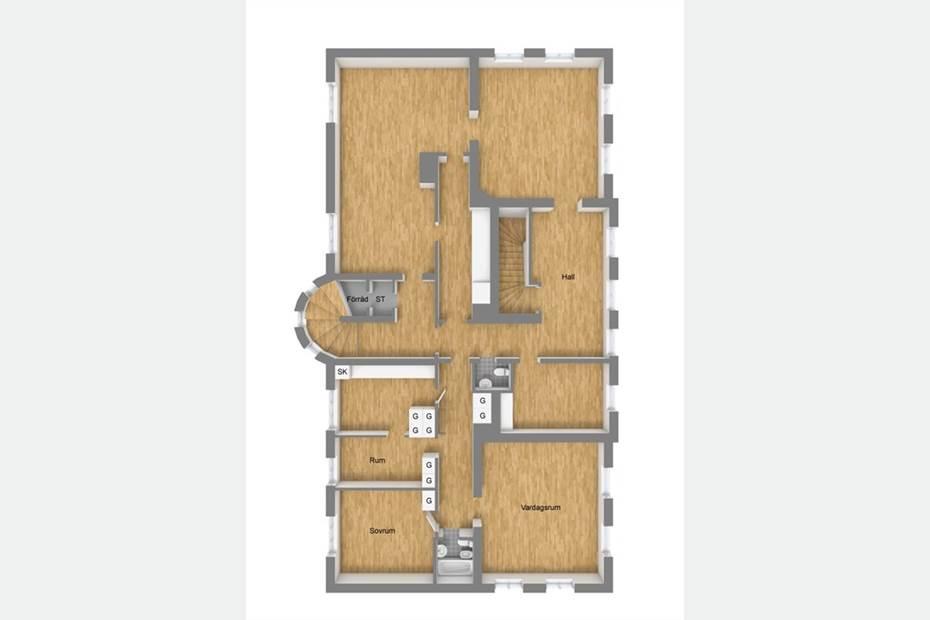 Planritning Våning 2-OBS!Ändringar har gjorts här!