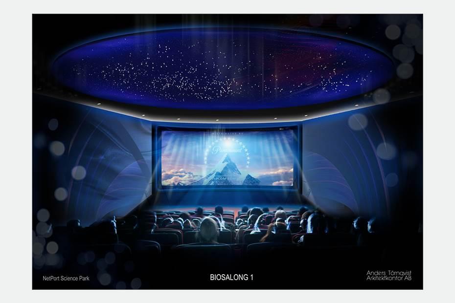 Biograf med två salonger, med världsunik bild- och ljudteknik