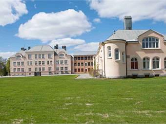 Skolbyggnad, och gymnastiksal