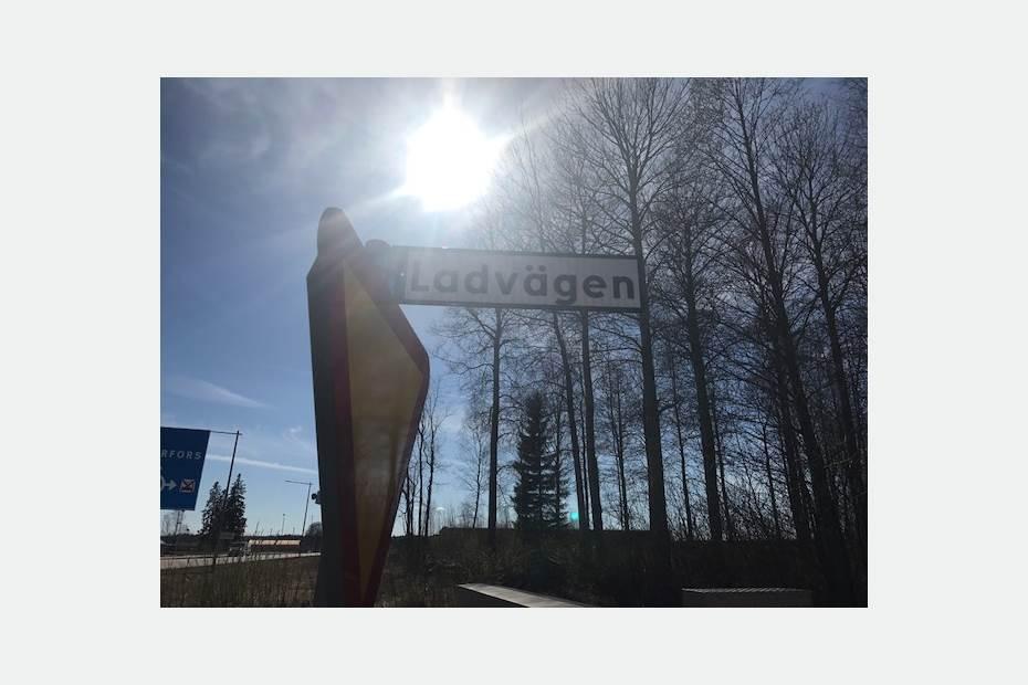 Siggbo Företagspark, infart Ladvägen