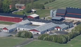 Flygbild över anläggningen