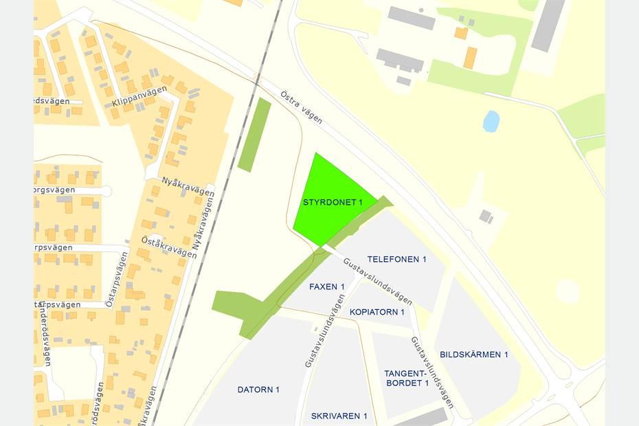 Styrdonet 1, Gustavslundsvägen, Eslöv - Industrimark