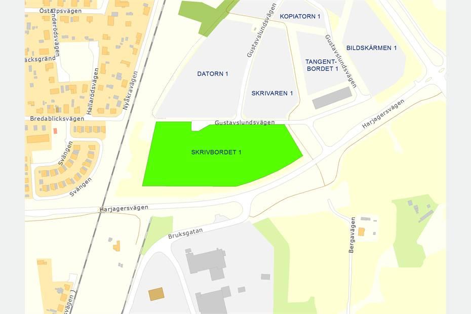 Skrivbordet 1, Gustavslundsvägen, Gustavslund, Eslöv - Industritomt