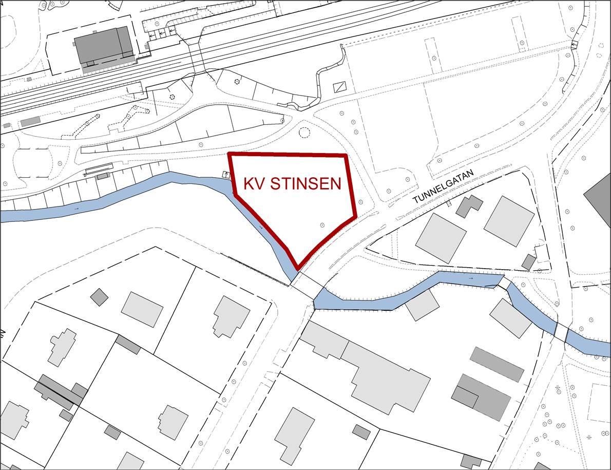 Ledig mark för verksamhet i kvarteret Stinsen.