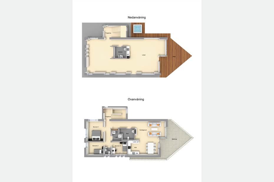 Planlösning huvudbyggnaden