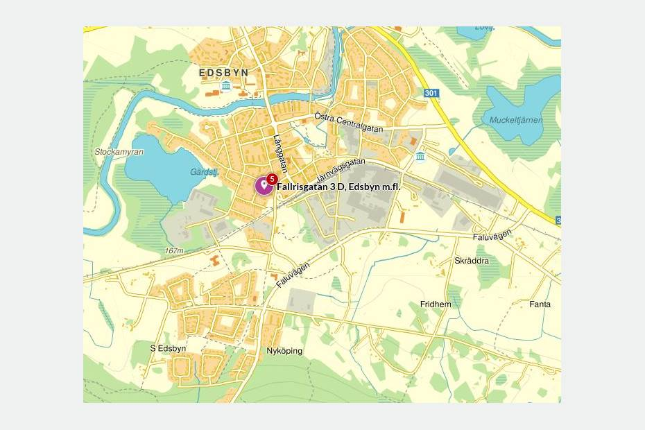 Fallrisgatan 3, Söder, Edsbyn - Kontor Lager/Logistik
