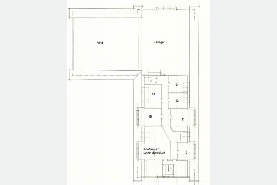 Planlösning kontor 1 Plan 2