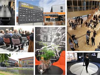 Videum Science Park - 20 000 kvm med professionell service kring flexibla kontors- och möteslokaler, labbmiljöer för innovation och VR samt ett stort utbud kunskapsevent i samverkan med näringsliv och akademi.