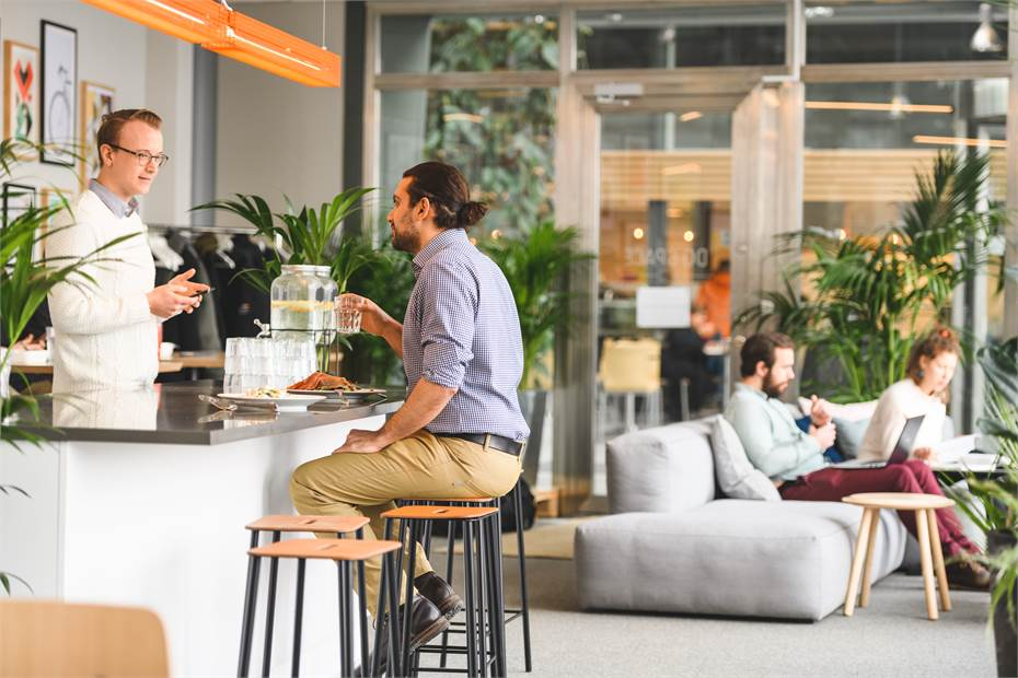 Kök och lounge-yta