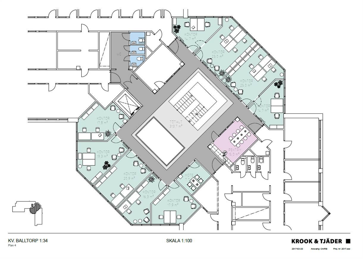 Planlösning våning 3