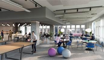 Fleminggatan 20 - interiör rendering top floor