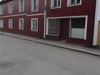 Ingången och skyltfönstret till samlingslokal / Butiksdelen