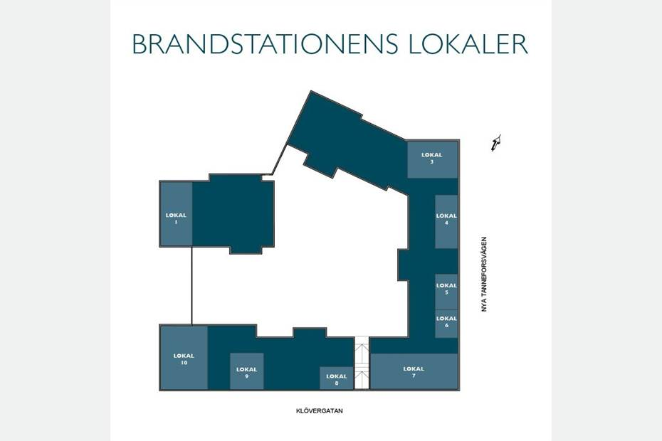 Situationsplan lokaler Brandstationen