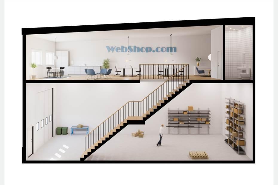 Förslag på utformning av lokal. Illustrationsbild
