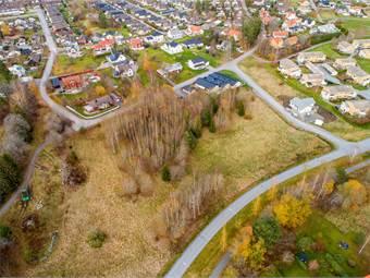 Flygbild över området