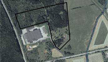 Svartmarkerat område är detaljplanerat för industri. Område ovanför svart markering går att vidareutveckla för industri.