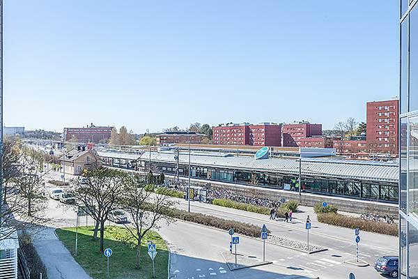 Utsikt mot stationsområdet.