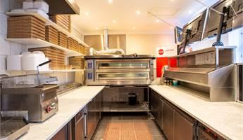 Arbetsplats för 2 pizzabagare.