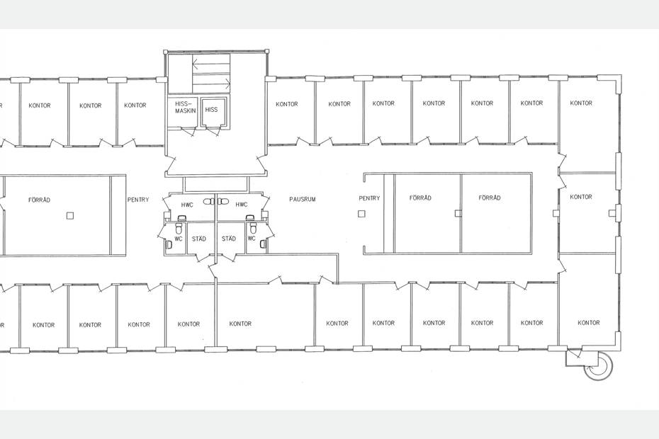 Kontorhotell ritning