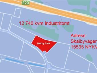 En enkel karta. Skälbyvägen 15, 15535 Nykvarn