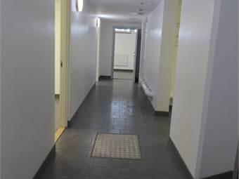 Korridor sedd från entrén