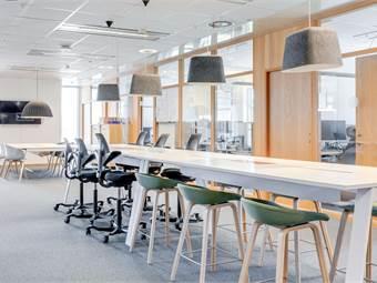 Här finns möjlighet till flexibla arbetsplatser
