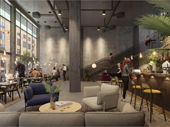 Illustration på en av de många nya restauranger/caféer