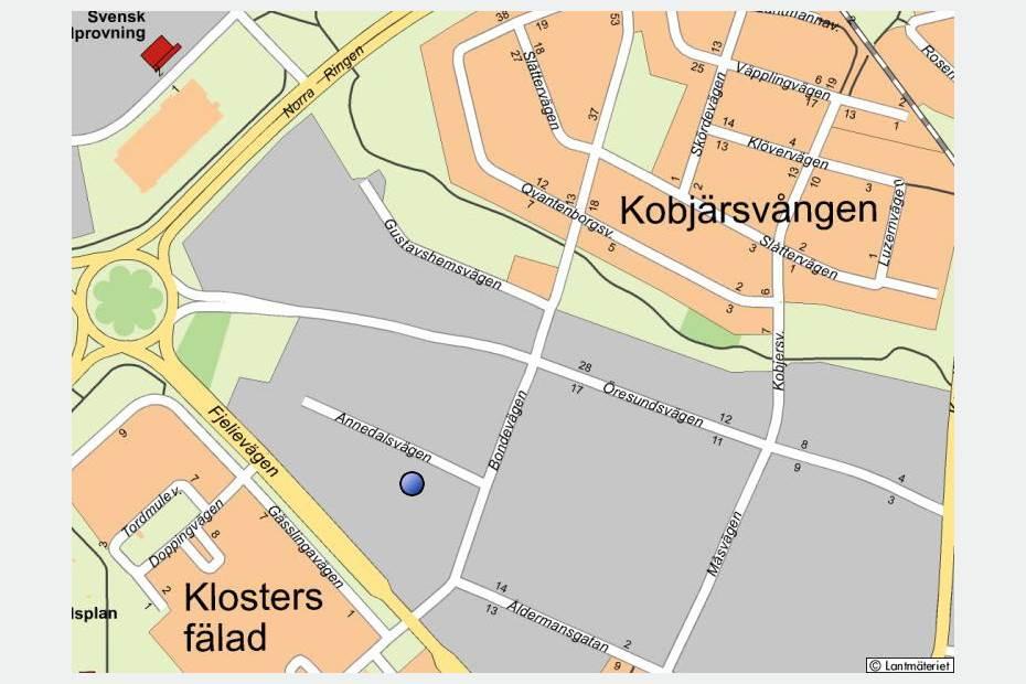 Stadskarta, Annedalsvägen 9, Lund