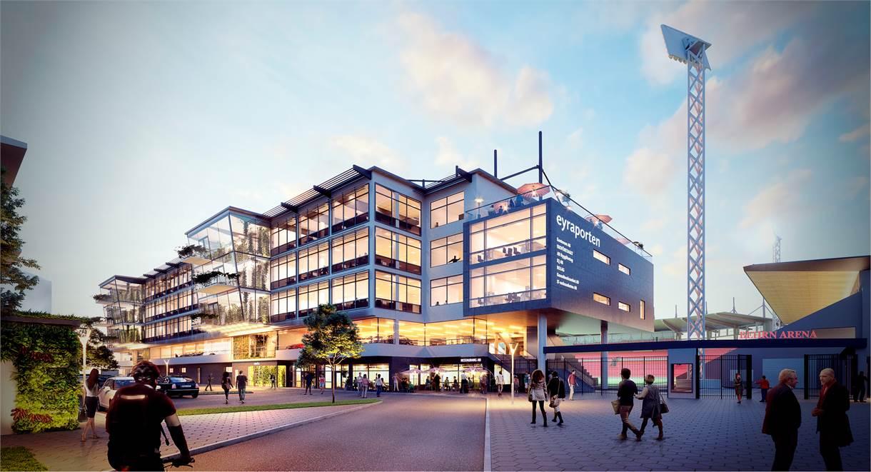 Tre våningsplan med moderna och yteffektiva kontorslokaler.