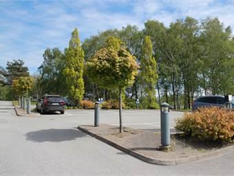 Gott om parkeringsplatser