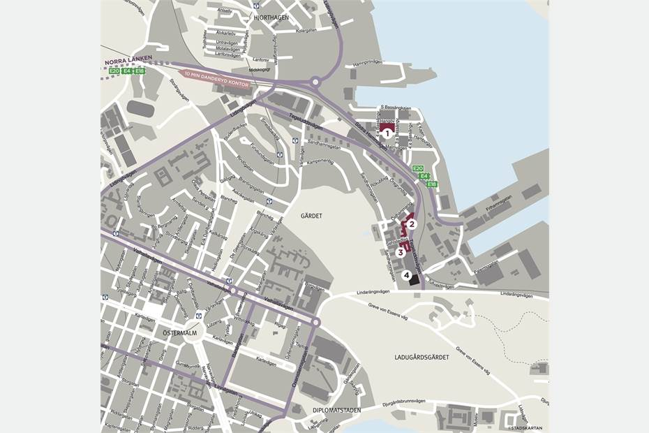 Hangövägen 18-20, Gärdet, Stockholm - Kontor