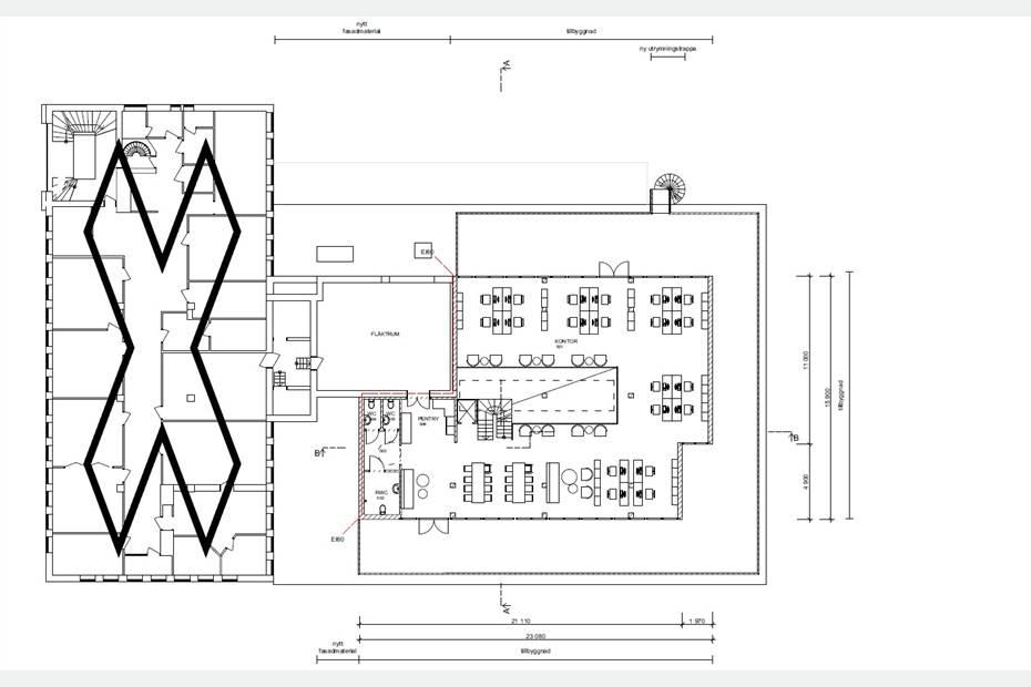 Planlösning - Takvåning med takterrass