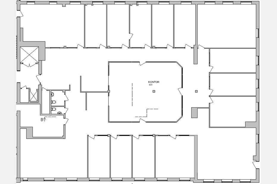 Planlösning - Existerande Våningsplan - Våning 3